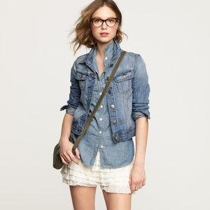 J CREW Nolita Denim Jacket S $98 Antique Wash NEW
